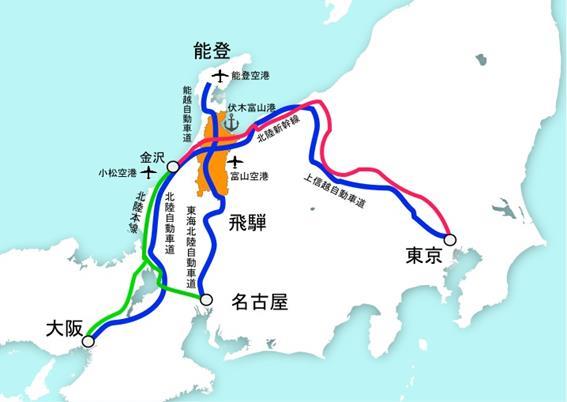 高速道路・空港ネットワーク